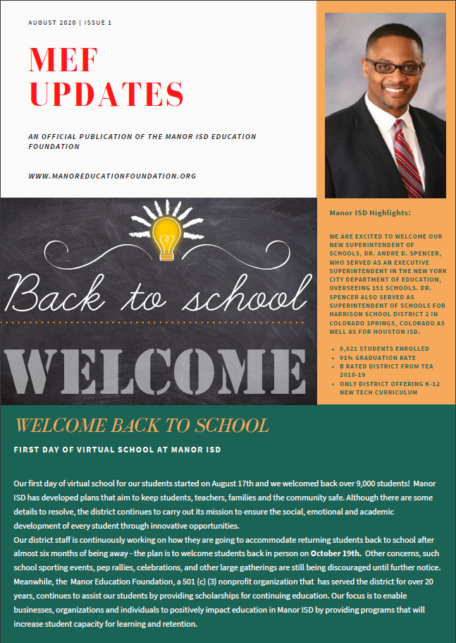 Fall 2020 Newsletter Page 1
